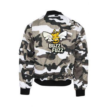 Buzz Fuzz (EXCLUSIVE) bomberjack embroidered logo | camouflage