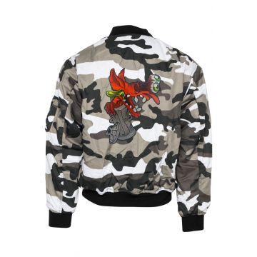BZRK (EXCLUSIVE) bomberjack embroidered logo | camouflage