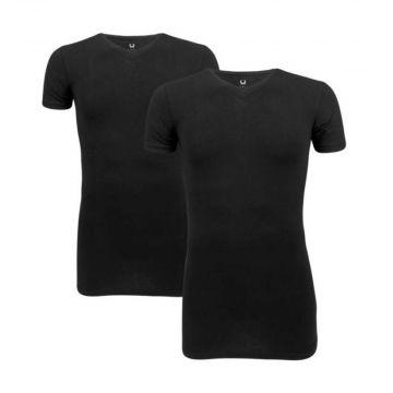 Cavello t-shirts 2-pack   v-neck x zwart