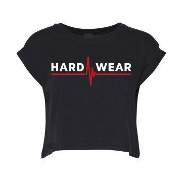 Hard-Wear croptop logo   black