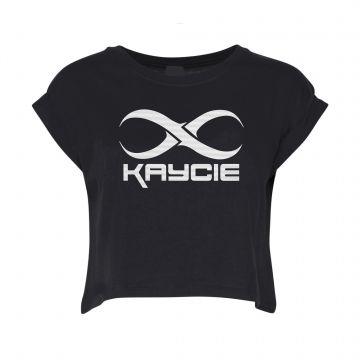 DJ Kaycie croptop logo   black