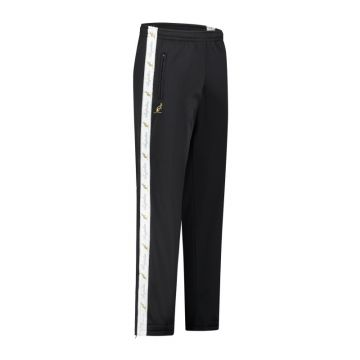 Australian pants with white stripe and 2 zippers 2.0 | black