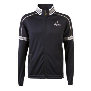 Australian acetate jacket with gray stripe on neck | black