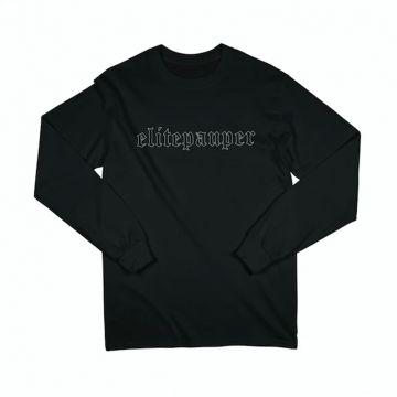 ELITE PAUPER. longsleeve goth logo | black