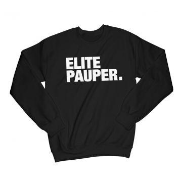 ELITE PAUPER. longsleeve   logo X black