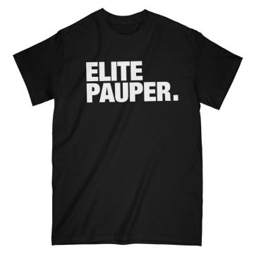 ELITE PAUPER. t-shirt | logo X black