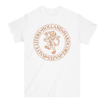 Elitepauper T-shirt Holland, Hardcore, Hazes & Halve liters | white