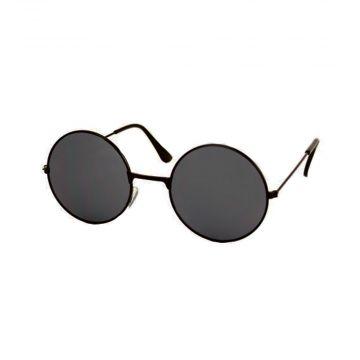Festival / Gabber glasses round metal black | dark glasses