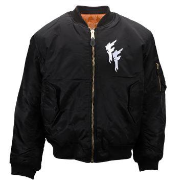 Frantic Freak (EXCLUSIVE) bomberjack embroidered logo | black