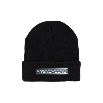 Frenchcore beanie with embroidery sports | black