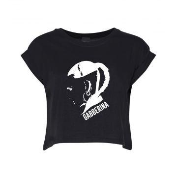 Hard-Wear Ladies Croptop Gabberina | black