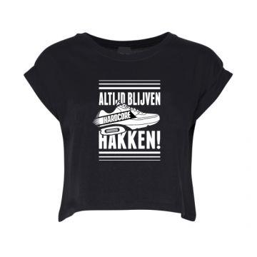 Hard-Wear Ladies Croptop ALTIJD BLIJVEN HAKKEN! | black