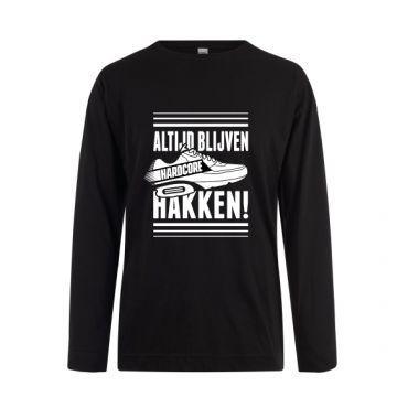Hard-Wear Longsleeve ALTIJD BLIJVEN HAKKEN! | black
