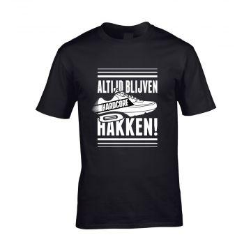 Hard-Wear T-shirt ALTIJD BLIJVEN HAKKEN! | black