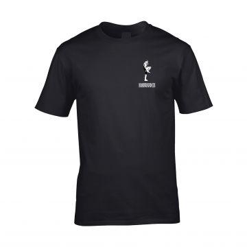 HakkuhVideos T-shirt gabber on the front and back | black