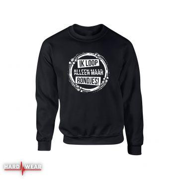 Hard-Wear Sweater Ik Loop Alleen Maar Rondjes | black