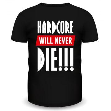 Hardcore Holland T-shirt never die | black