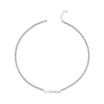 100% Hardcore necklace logo 65 CM | silver
