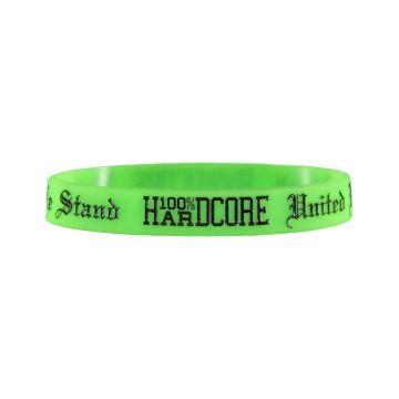 100% Hardcore rubber bracelet UNITED WE STAND | neon green