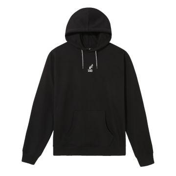 Australian Hard Court hooded sweater angel artwork on back   black