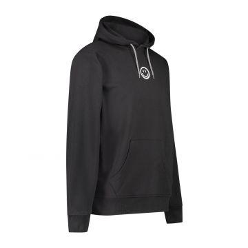 Australian Hard Court hooded sweater eye artwork on back   black