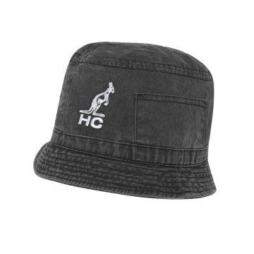 Australian bucket hat HC logo embroidery | black