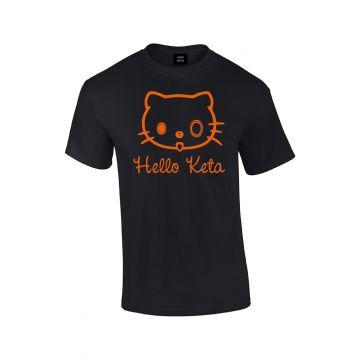 Hard-Wear T-shirt Hello Keta | black - orange