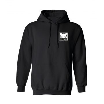 Peckerhead gravestone x københardcore hooded sweater logo   black