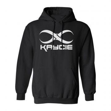 DJ Kaycie hooded sweater logo   black