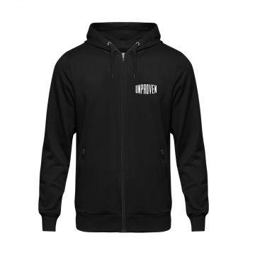 Unproven zip hoodie logo   zwart