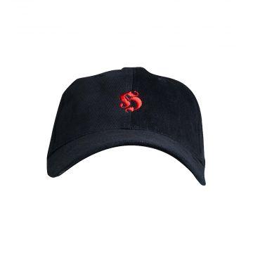 Hooligan cap basic embroidered logo cotton | black