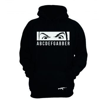 Peckerhead hooded sweater ABCDEFGABBER not a normal day   black