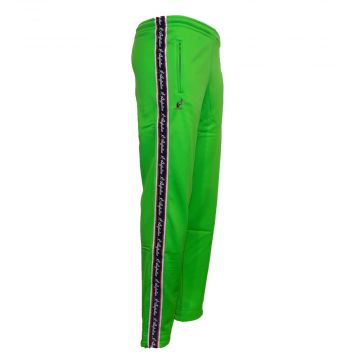Australian pants with red stripe | kawasaki green