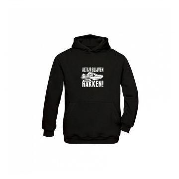 Hard-Wear kids hooded sweater ALTIJD BLIJVEN HAKKEN!
