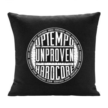 Unproven cushion uptempo hardcore round logo print