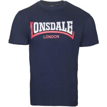 Lonsdale T-shirt Two-tone Print Logo | navy blue