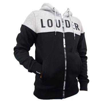 LOUDER hooded sweater essential | grijs
