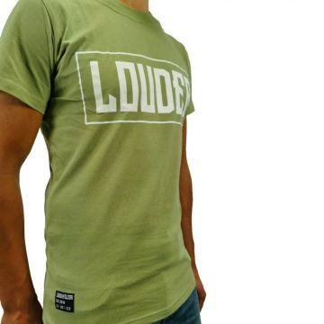 LOUDER T-shirt essential | groen