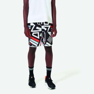 Australian Sportswear zwembroek abstracte print   wit
