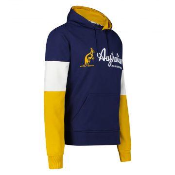 Australian Sportswear hooded sweater tri-color block   cosmo blue