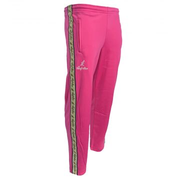 Australian pants with gold stripe and 2 zippers   pink