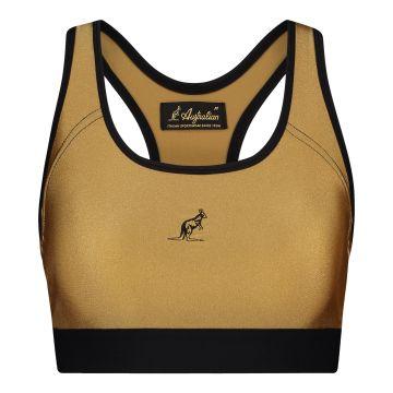 Australian dames glossy sporttop   brons