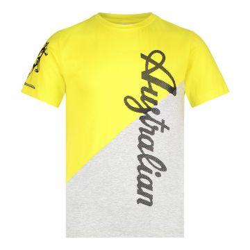 Australian kids duo T-shirt | gemêleerd grijs - geel