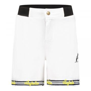 Australian kids korte broek gele logo's   wit