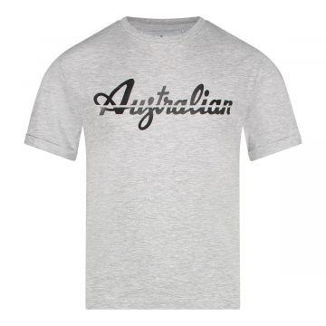 Australian kids T-shirt doorgesneden logo | gemêleerd grijs