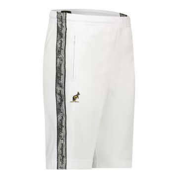 Australian bermuda with two zippers and a silver stripe 2.0   white