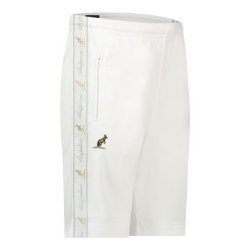 Australian bermuda with two zippers and a white stripe 2.0   white