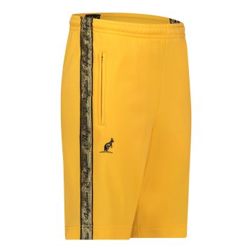 Australian bermuda with two zippers and a gold stripe 2.0   sunflower yellow