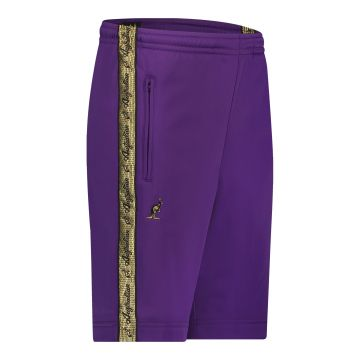 Australian bermuda with two zippers and a gold stripe 2.0   purple