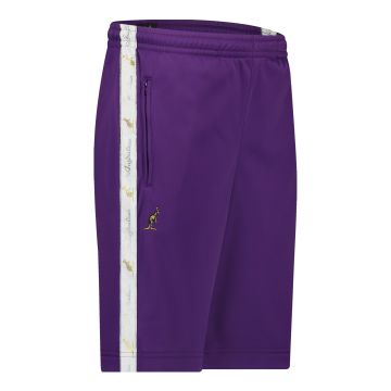 Australian bermuda with two zippers and a white stripe 2.0   purple
